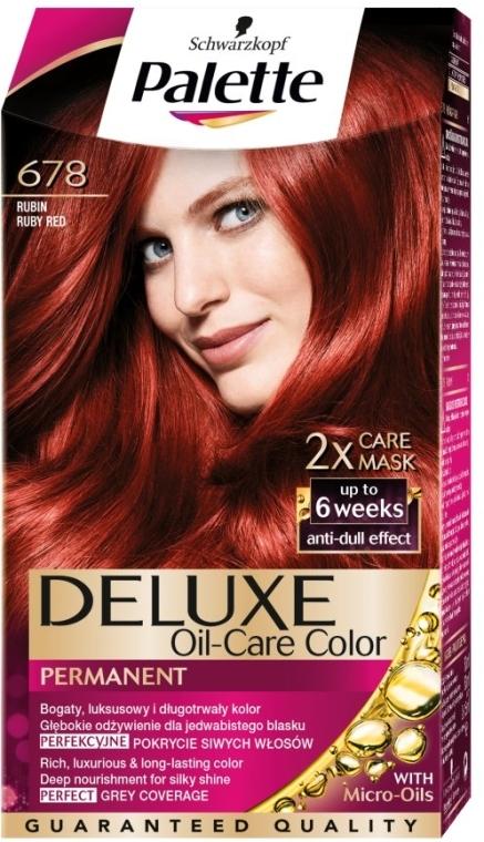 Trwała farba do włosów - Schwarzkopf Palette Deluxe Oil-Care Color