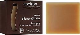 Kup Naturalne mydło w kostce Miodla indyjska do skóry problematycznej - Apeiron Neem Plant Oil Soap