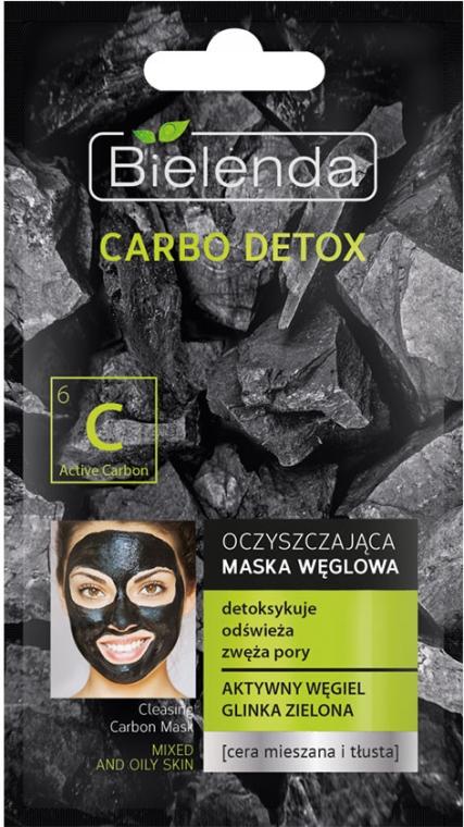 Oczyszczająca maska węglowa do cery mieszanej i tłustej - Bielenda Carbo Detox — фото N1