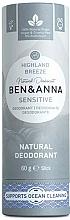 Kup Naturalny dezodorant w sztyfcie - Ben & Anna Natural Deodorant Sensitive Highland Breeze