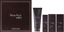 Kup Przeciwstarzeniowy zestaw dla mężczyzn - Oriflame NovAge Men (cleanser 125ml + eye/gel 15ml + ser 50ml + gel 50ml)