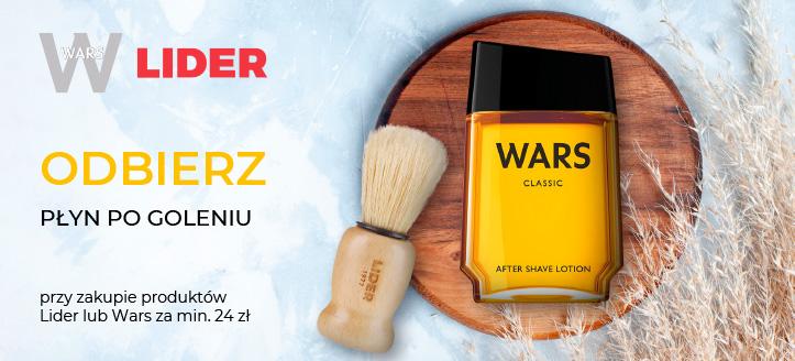 Kup produkty Lider lub Wars za min. 24 zł, a płyn po goleniu otrzymasz w prezencie.