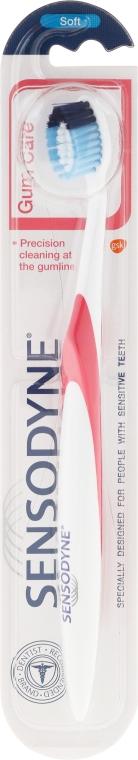 Miękka szczoteczka do zębów, czerwona - Sensodyne Gum Care Soft — фото N1