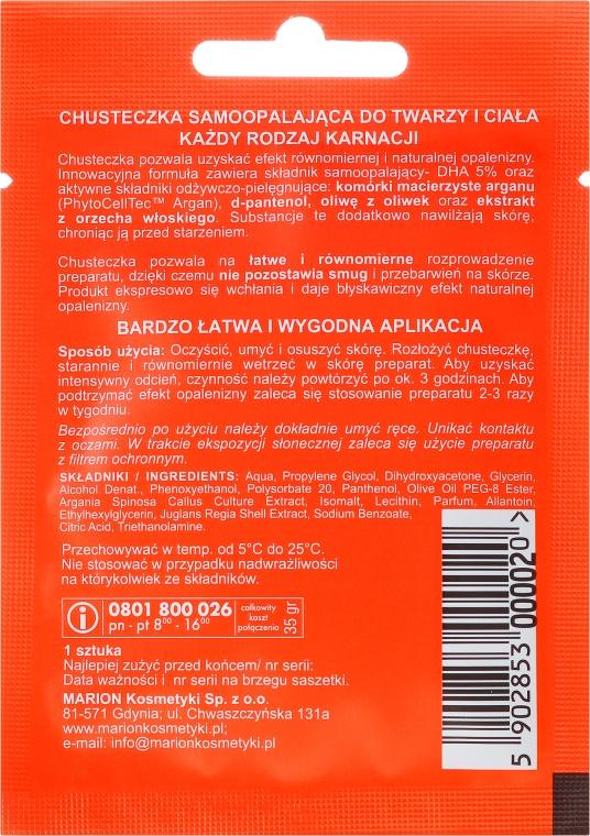 Chusteczka samoopalająca z ekstraktem z orzecha włoskiego - Marion Handkerchief Self Tanning — фото N2