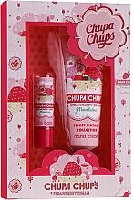 Zestaw - Bi-es Chupa Chups Strawberry Cream (h/cr 50 ml + lip/balm 1 pcs) — фото N1