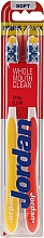 Kup Miękkie szczoteczki do zębów, czerwona + żółta - Jordan Total Clean Soft