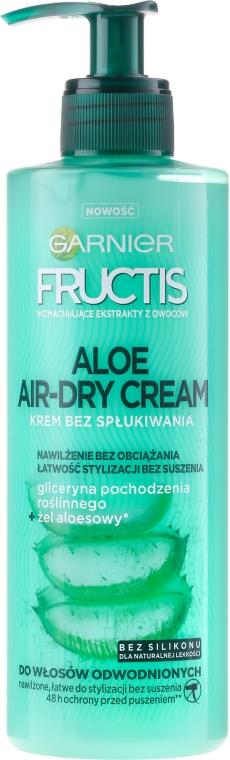 Krem bez spłukiwania do włosów odwodnionych - Garnier Fructis Aloe Air-Dry Cream