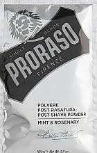 Kup PRZECENA! Puder po goleniu Mięta i rozmaryn - Proraso Mint & Rosemary Post Shave Powder *