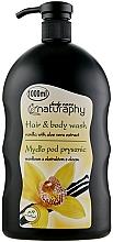 Kup Mydło pod prysznic do włosów i ciała, Wanilia z ekstraktem z aloesu - Bluxcosmetics Naturaphy Hair & Body Wash