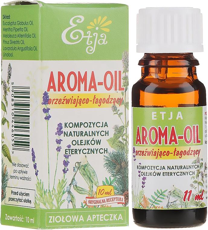 Orzeźwiająco-łagodząca kompozycja naturalnych olejków eterycznych - Etja