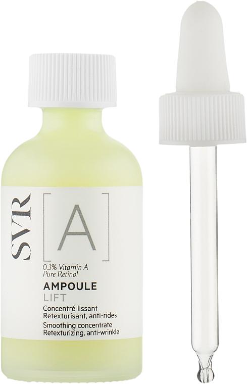 Wygładzający koncentrat do twarzy z witaminą A - SVR [A] Ampoule Lift Smoothing Concentrate