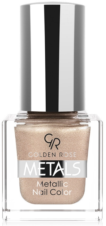 Metaliczny lakier do paznokci - Golden Rose Metals Metallic Nail Color — фото N1