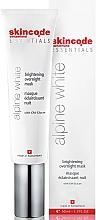 Kup PRZECENA! Rozjaśniająca maska do twarzy na noc - Skincode Essentials Alpine White Brightening Overnight Mask *
