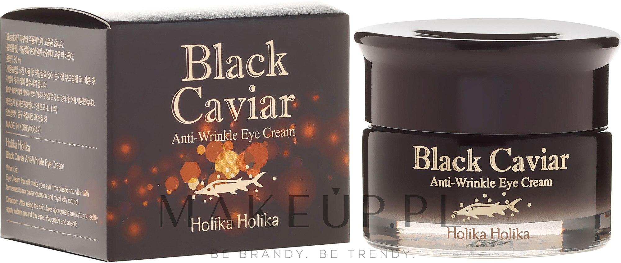 Przeciwstarzeniowy krem pod oczy z ekstraktem z czarnego kawioru - Holika Holika Black Caviar Anti Wrinkle Eye Cream — фото 30 ml