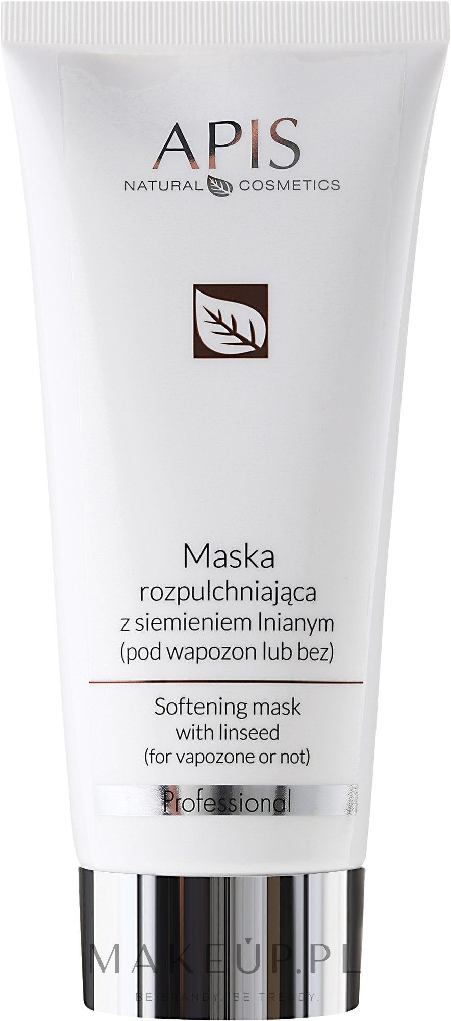 Maska rozpulchniająca z siemieniem lnianym - APIS Professional — фото 200 ml