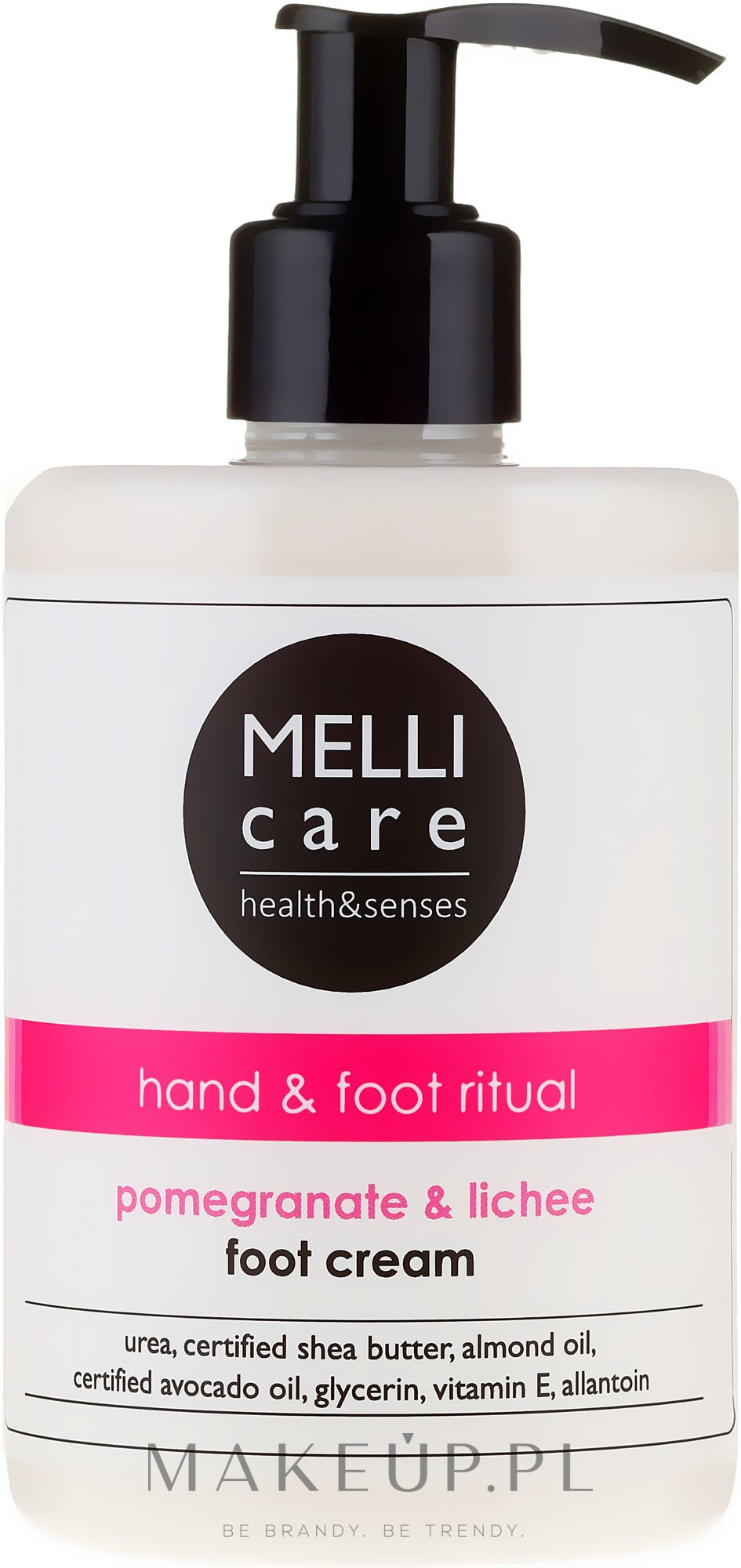 Krem do stóp Granat i liczi - Melli Care Pomegranate & Lichee Foot Cream — фото 300 ml