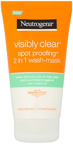 Regenerująca maska do twarzy - Neutrogena Visibly Clear Spot Proofing 2-in-1 Wash-Mask  — фото N1
