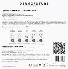 Szczoteczka soniczna do oczyszczania twarzy, różowa - DermoFuture — фото N3