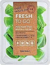Kup Odświeżająca maska do twarzy w płachcie Aloes - Tony Moly Fresh To Go Mask Sheet Aloe