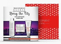 Kup Zestaw - Transparent Clinic City Defense Ritual Box (mic/water 200 ml + cr 50 ml + sun/cr 75 ml)