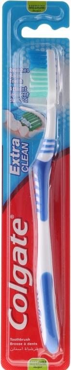 Szczoteczka do zębów o średniej twardości Extra Clean, niebieska - Colgate Extra Clean Medium — фото N1