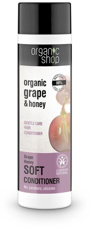 Delikatnie pielęgnujący balsam do włosów Winogrono i miód - Organic Shop Organic Grape and Honey Soft Conditioner — фото N1