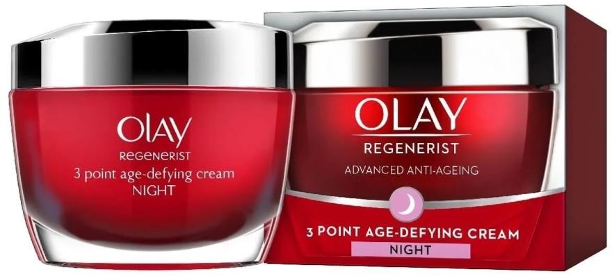 Przeciwzmarszczkowy krem na noc - Olay Regenerist 3 Point Age-Defying Cream Night — фото N1