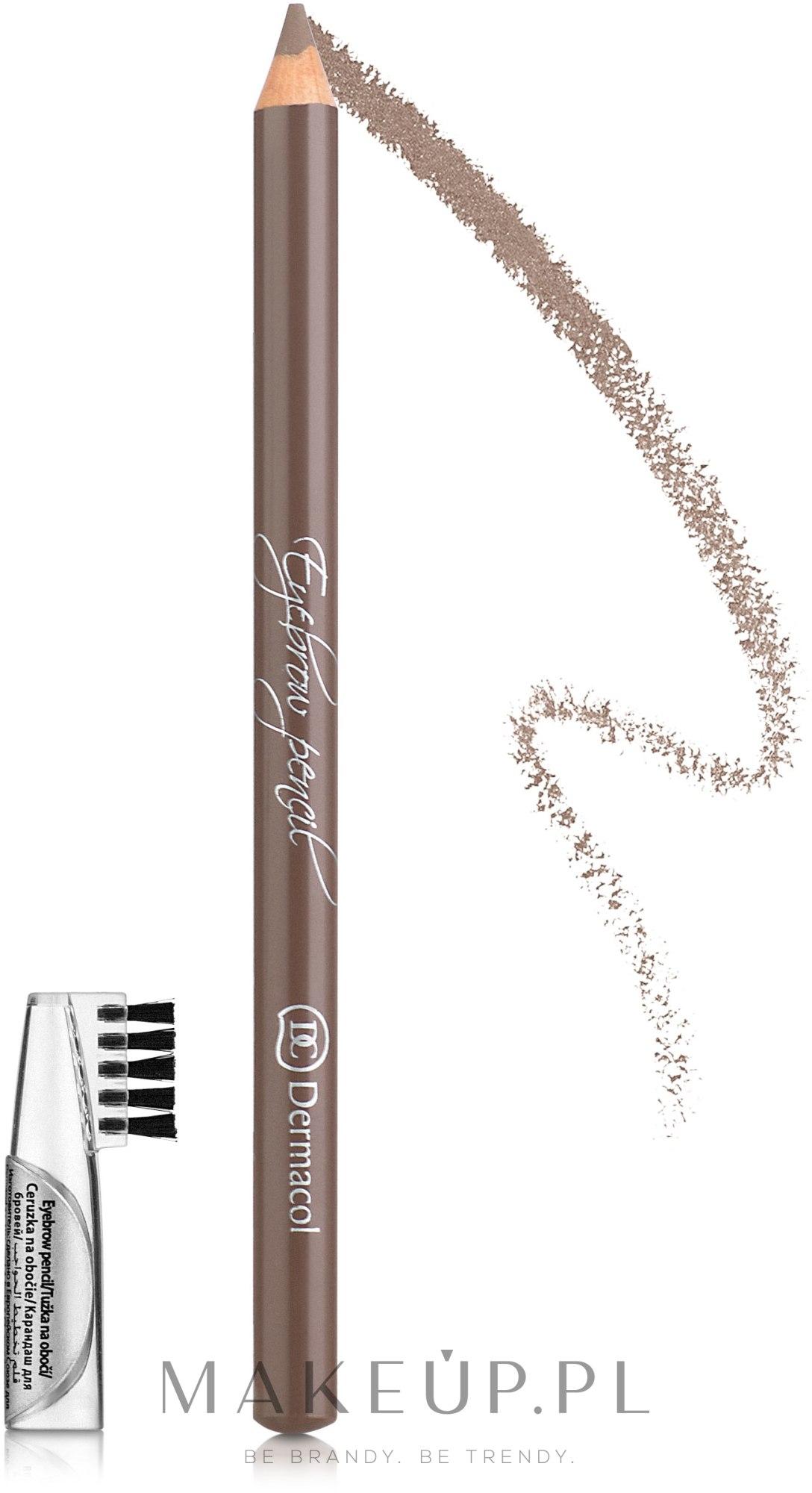Kredka do brwi ze szczoteczką - Dermacol Eyebrow Pencil — фото 1