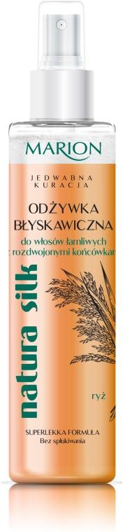 Błyskawiczna odżywka w sprayu do włosów łamliwych i z rozdwojonymi końcówkami - Marion Natura Silk