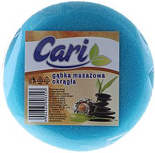Kup Okrągła masażowa gąbka do kąpieli, 98553, biało-niebieska - Cari