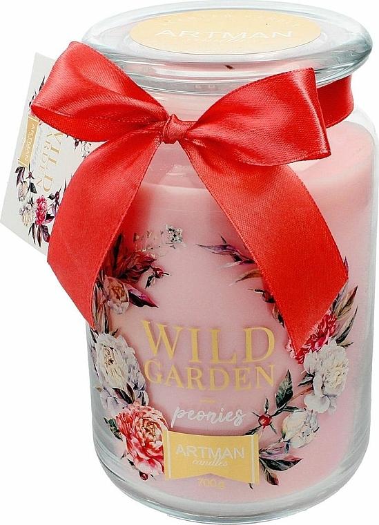 Świeca zapachowa w słoiku, 10 x 16 cm - Artman Wild Garden Peonies — фото N1
