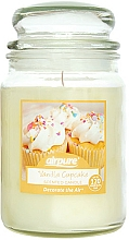 Kup Świeca zapachowa w słoiku Babeczka waniliowa - Airpure Jar Scented Candle Vanilla Cupcake