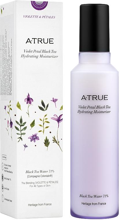 Nawilżający krem do twarzy z płatkami fiołka i czarną herbatą - A-True Violet Petal Black Tea Hydrating Moisturizer
