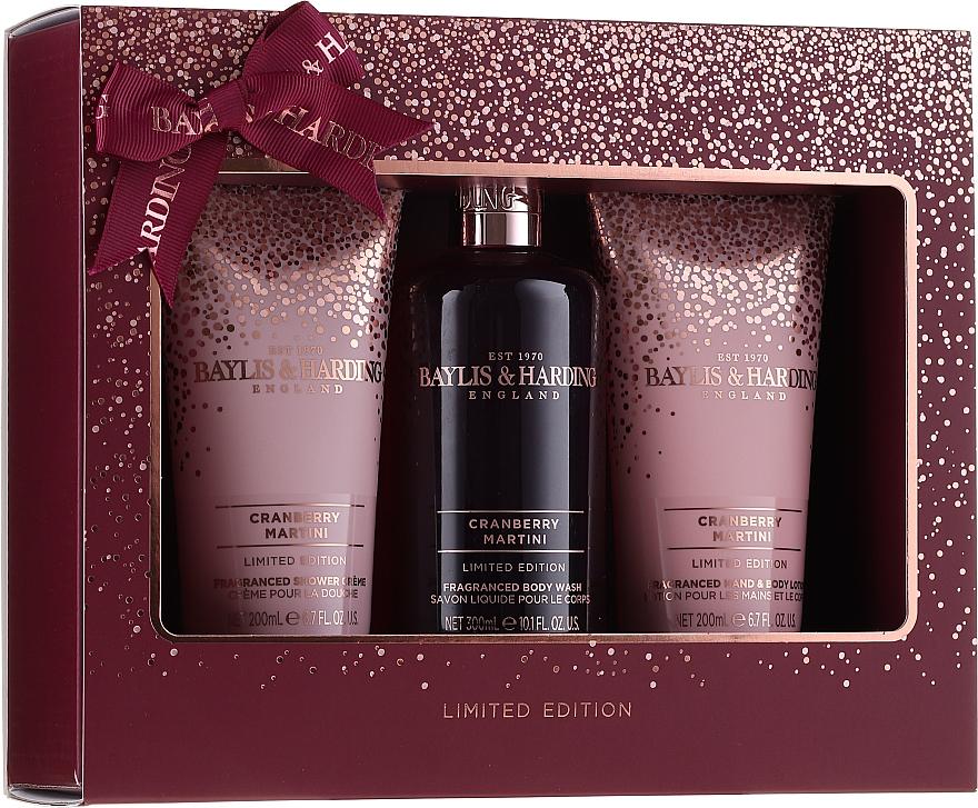 Zestaw - Baylis & Harding Cranberry Martini Limited Edition Set (sh/gel/300ml + sh/cr/200ml + h/b/lot/20ml) — фото N1