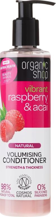 Naturalna odżywka dodająca włosom objętości Malina i acai - Organic Shop Raspberry And Acai Conditioner