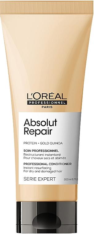 Odżywka do włosów zniszczonych - L'Oreal Professionnel Serie Expert Absolut Repair Gold Quinoa +Protein Conditioner