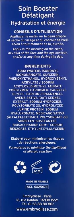Nawilżający żel-serum energizujący do twarzy dla mężczyzn - Embryolisse Laboratories For Men Soin Booster — фото N3