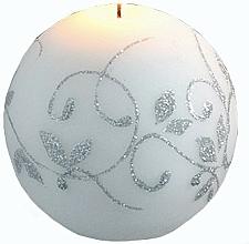 Kup Świeca dekoracyjna, kula, biała 10 cm - Artman Amelia