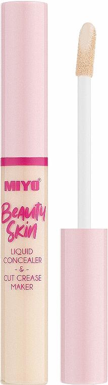 Płynny korektor do twarzy - Miyo Beauty Skin Liquid Concealer & Cut Crease Maker