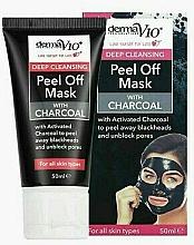Kup Głęboko oczyszczająca maska do twarzy z węglem aktywnym - Derma V10 Deep Cleansing Peel Off Charcoal Mask