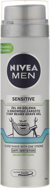 Bezalkoholowy żel do golenia - Nivea For Men Sensitive — фото N1