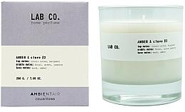 Kup Świeca zapachowa - Ambientair Lab Co. Amber & Clove