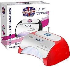 Kup Lampa CCFL + LED, czerwona - Ronney Professional Alice Nail CCFL+LED 48w (GY-LCL-015D) Lamp