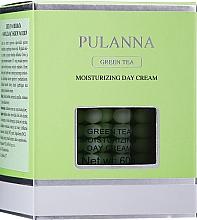 Nawilżający krem ochronny do twarzy na dzień - Pulanna Green Tea Moisturizing Day Cream  — фото N2
