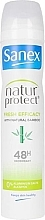 Kup Antyperspirant z ekstraktem z bambusa - Sanex Natur Protect 0% Fresh Bamboo Deo Vapo
