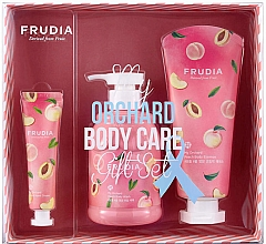 Kup Zestaw - Frudia My Orchard Peach Body Care Gift Set (sh/gel/300ml + essence/200ml + h/cr/30g)