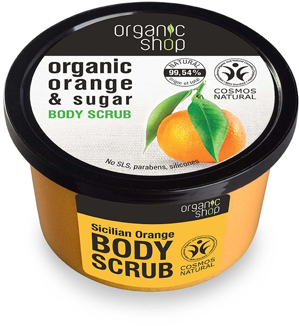 Scrub do ciała Sycylijska pomarańcza - Organic Shop Body Scrub Organic Orange & Sugar