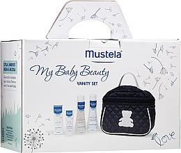 Kup Zestaw do pielęgnacji niemowląt - Mustela My Baby Beauty Vanity Set (shm 200 ml + b/bubble 200 ml + cr 40 ml + bag)
