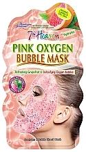 Kup Detoksykująca maseczka bąbelkowa do twarzy w płacie - 7th Heaven Pink Oxygen Bubble Mask