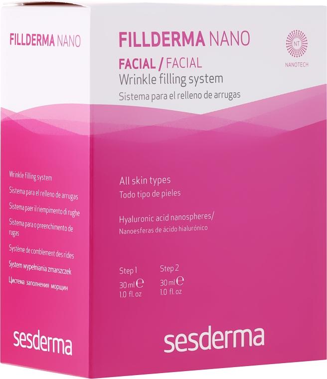 Kuracja wypełniająca zmarszczki - SesDerma Laboratories Fillderma nano Wrinkle Filling System — фото N1